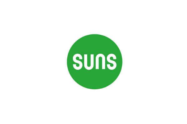 Ivy stojak ogrodowej lampy solarnej ze stali nierdzewnej logo SUNS