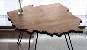 Stylowe stoliki czyli kawa, mapa i spinacze