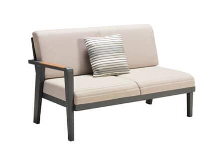 Emoti ekskluzywny zestaw wypoczynkowy naroży z aluminium sofa ogrodowa lewa podwójna Higold