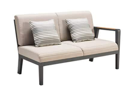 Emoti ekskluzywny zestaw wypoczynkowy naroży z aluminium sofa ogrodowa prawa podwójna Higold