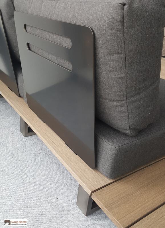 Margarita luksusowy zestaw wypoczynkowy ze stali nierdzewnej | Sofa ogrodowa z regulacją kąta oparcia