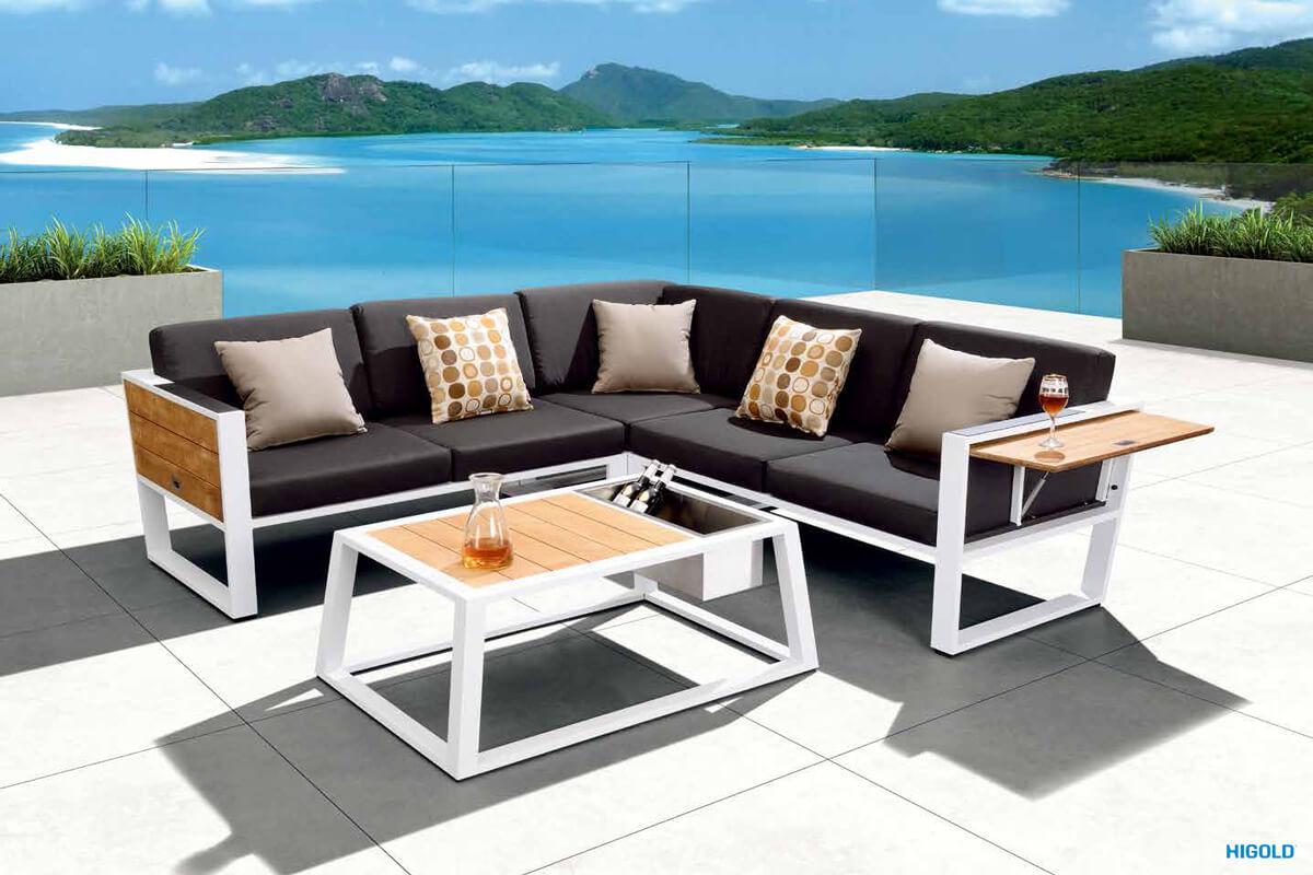 york meble ogrodowe z aluminium naro ny zestaw. Black Bedroom Furniture Sets. Home Design Ideas