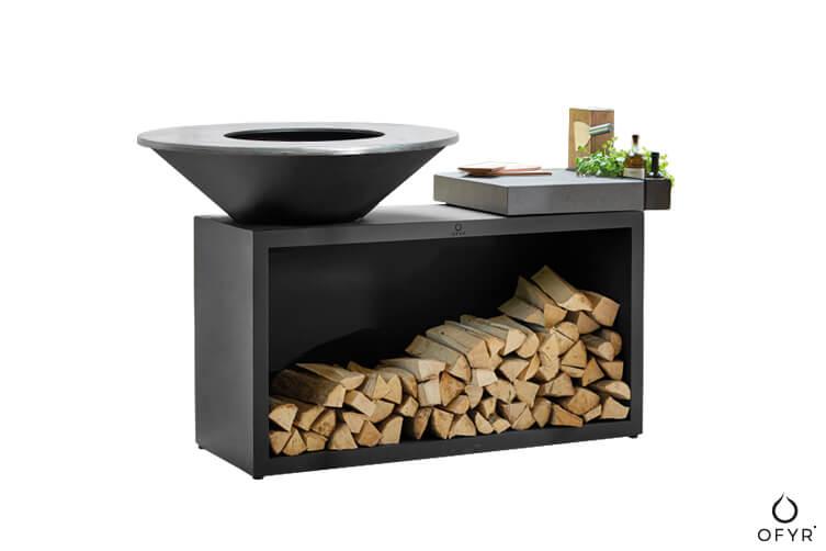 grill-ogrodowy-ofyr-island-100-czarny-ze-stali-z-blatem-roboczym-z-ceramiki-jasnoszarej-luksusowe-grille-ogrodowe