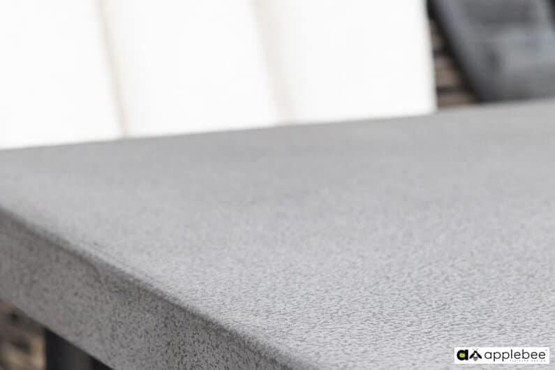 Milou luksusowy zestaw obiadowy technorattan alumimium - stół ogrodowy z blatem betonowym Apple Bee