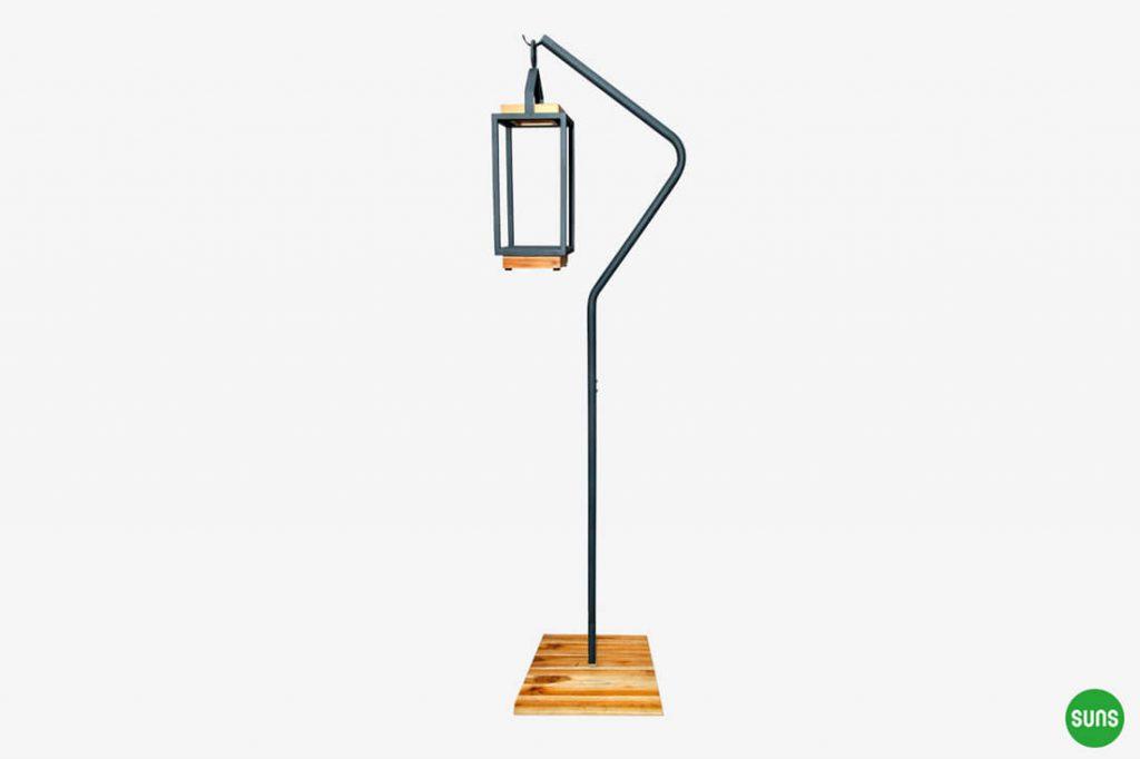 Ivy stojak ogrodowej lampy solarnej ze stali nierdzewnej szary antracytowy lampa solarna Coco SUNS