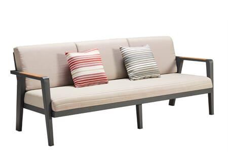 Emoti ekskluzywny zestaw wypoczynkowy sofa ogrodowa 3 osobowa Higold