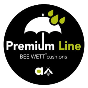 Milou luksusowy zestaw stołowy technorattan aluminium Premium Bee Wet logo