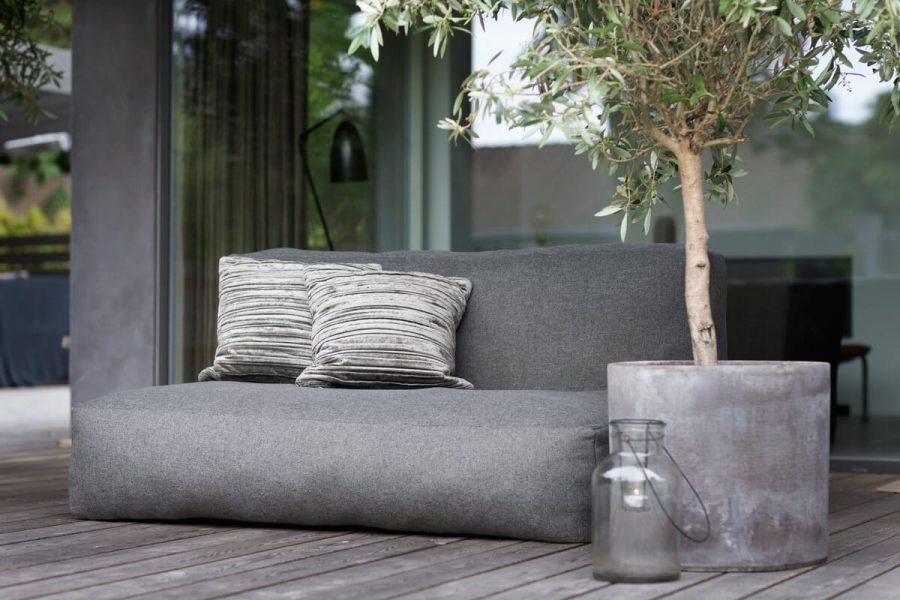 C-1 nowoczesna podwójna sofa ogrodowa z tkaniny TroisPommes Home luksusowe meble ogrodowe