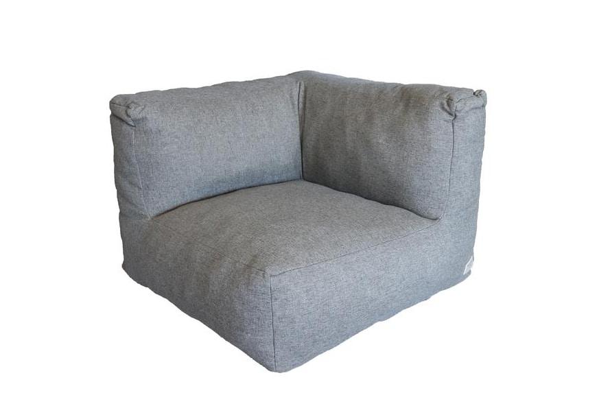 C-1 nowoczesny narożny fotel ogrodowy z tkaniny TroisPommes Home luksusowe meble ogrodowe