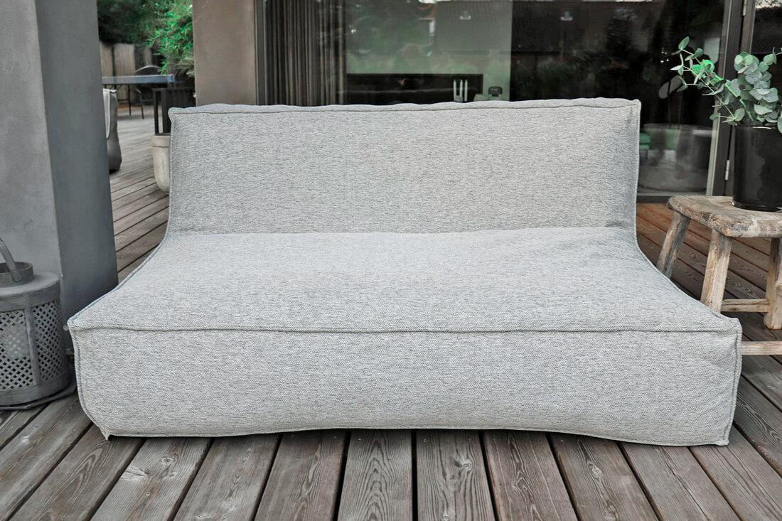 C-2 Edge nowoczesna podwójna sofa ogrodowa z tkaniny TroisPommes Home ekskluzywne meble ogrodowe