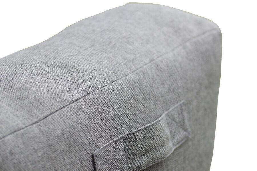 C-2 Edge nowoczesny zestaw ogrodowy z tkaniny TroisPommes Home luksusowe meble ogrodowe elementy zestawu sofa podwójna - oparcie rączka do przenoszenia