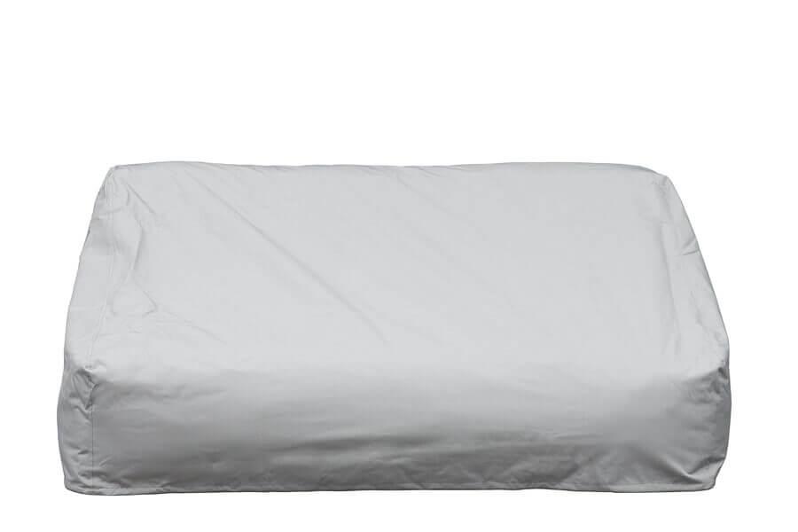 C-2 Edge nowoczesny zestaw ogrodowy z tkaniny TroisPommes Home luksusowe meble ogrodowe elementy zestawu sofa podwójna pokrowiec ochronny