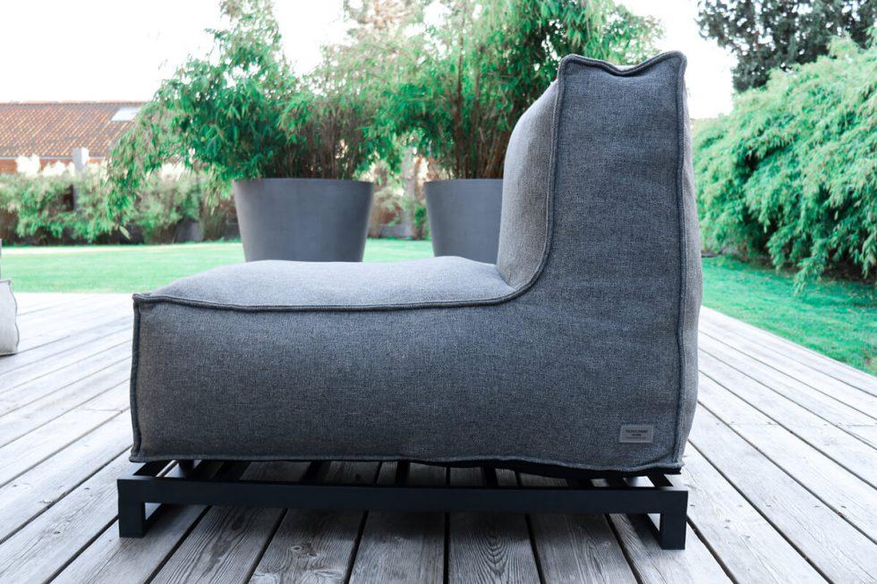C-2 Edge nowoczesny fotel ogrodowy z tkaniny   Fotel ogrodowy z podstawą aluminiową (opcja)