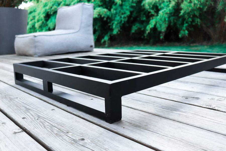 C-2 Edge nowoczesny fotel ogrodowy z tkaniny | Rama aluminiowa