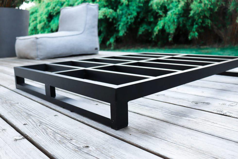 C-2 Edge nowoczesny fotel ogrodowy z tkaniny   Rama aluminiowa