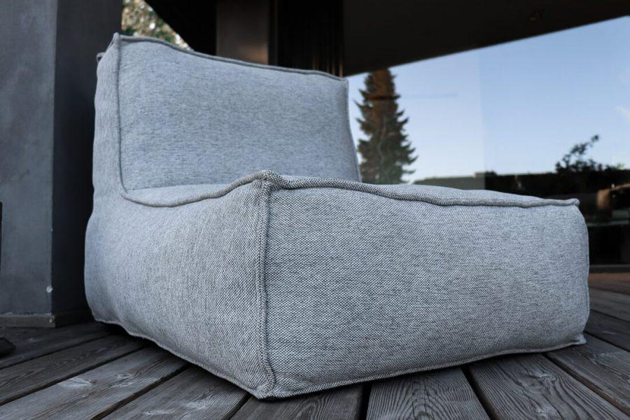 C-2 Edge nowoczesny fotel ogrodowy z tkaniny TroisPommes Home nowoczesne meble do ogrodu
