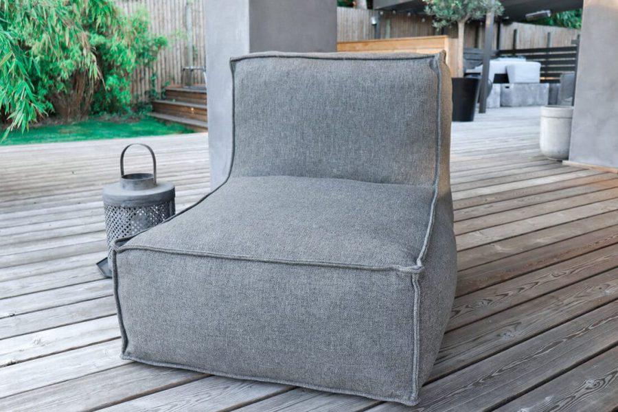 C-2 Edge nowoczesny fotel ogrodowy z tkaniny TroisPommes Home luksusowe meble ogrodowe moduły