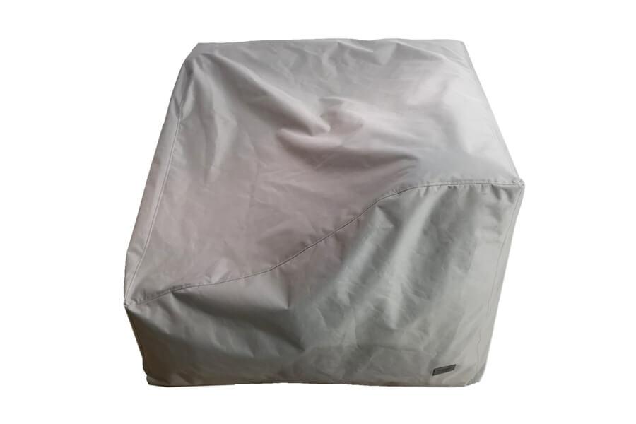 C-2 Edge nowoczesny narożny fotel ogrodowy z tkaniny TroisPommes Home luksusowe meble ogrodowe tkanina Olefin pokrowiec ochronny