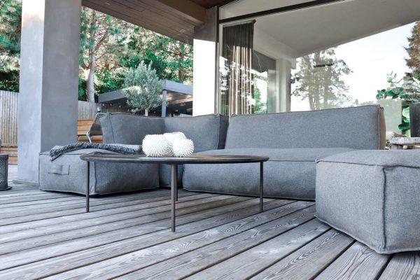 C-2 Edge nowoczesny zestaw ogrodowy z tkaniny TroisPommes Home luksusowe meble ogrodowe tkanina Olefin