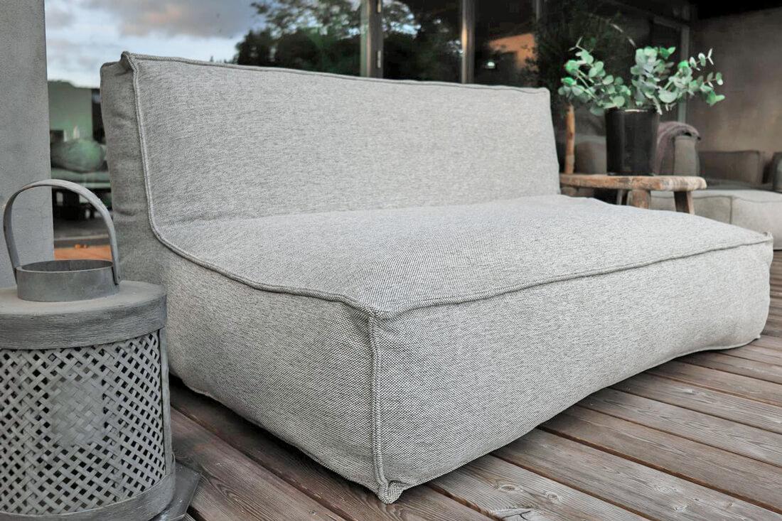Wyprzedaże mebli ogrodowych C-2 Edge nowoczesna podwójna sofa ogrodowa z tkaniny luksusowe meble ogrodowe w promocji