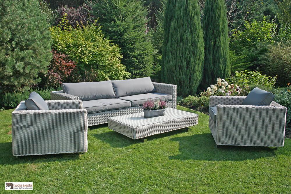Wyprzedaże mebli ogrodowych Lubeck meble ogrodowe technorattan zestaw wypoczynkowy w promocji