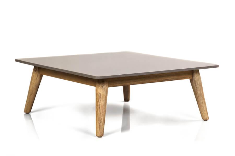 Corfu nowoczesny narożnik ogrodowy zestaw wypoczynkowy - stolik ogrodowy kwadratowy