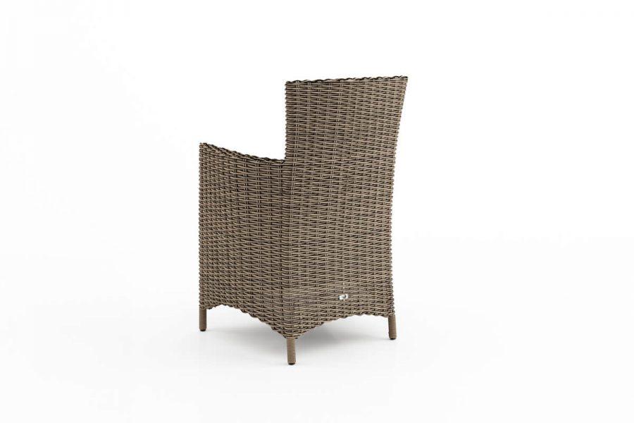 Amanda elegancki fotel ogrodowy z technorattanu kolor piaskowy