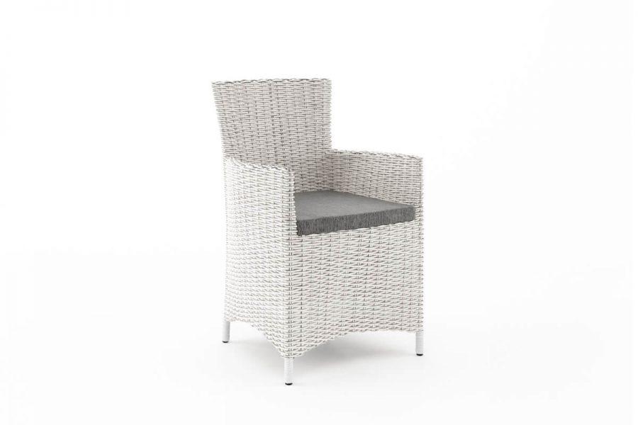 Amanda elegancki fotel ogrodowy z technorattanu kolor biały