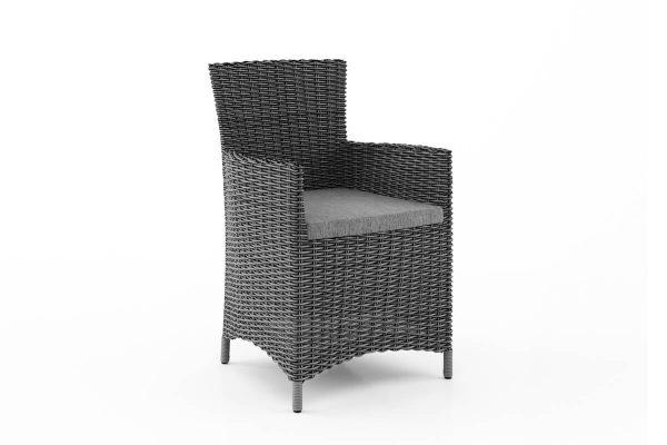 Amanda elegancki fotel ogrodowy z technorattanu kolor szary
