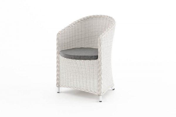 Dolce Vita wygodny fotel ogrodowy z technorattanu w kolorze białym