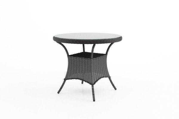 Filip okrągły stół ogrodowy z technorattanu - kolor szary