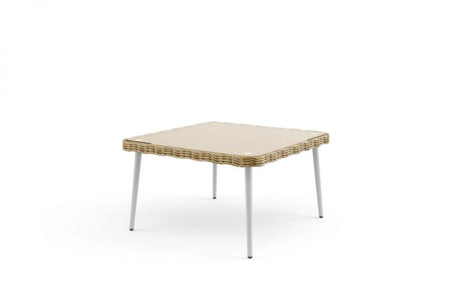 Imola meble ogrodowe z technorattanu - niski stolik ogrodowy Imola kolor piaskowy
