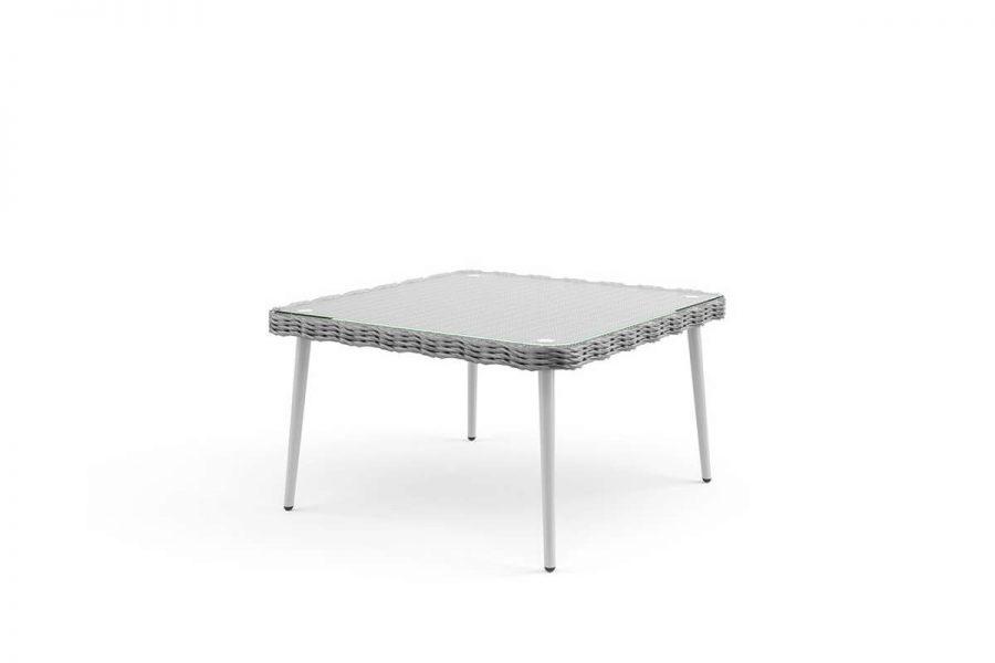 Imola meble ogrodowe z technorattanu - niski stolik ogrodowy Imola kolor szary