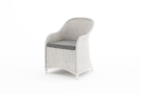 Leonardo elegancki fotel ogrodowy z technorattanu - kolor biały