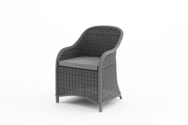 Leonardo elegancki fotel ogrodowy z technorattanu - kolor szary
