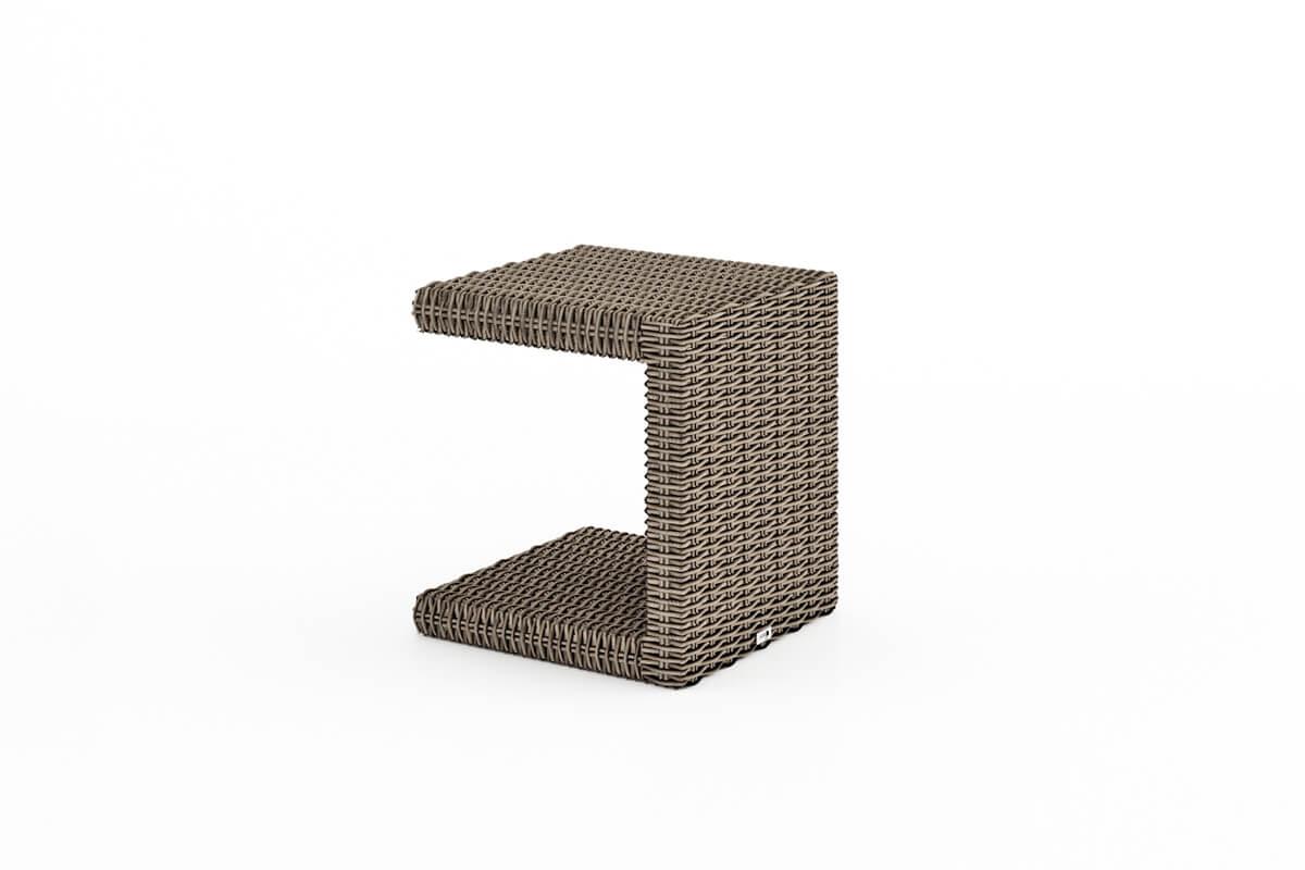 Grazia leżak ogrodowy z technorattanu Romeo stolik ogrodowy