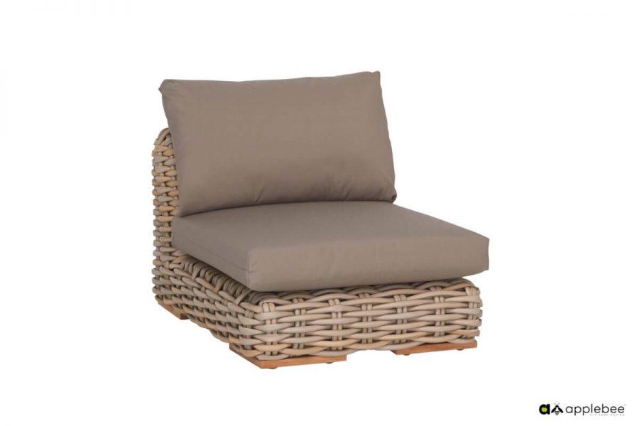 FFF modułowy zestaw wypoczynkowy z technorattanu - sofa pojedyncza narożnika (elem. wewn.)