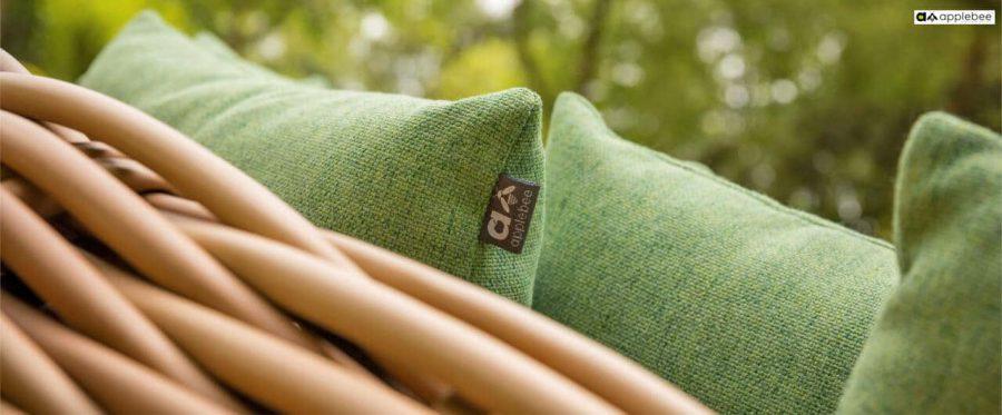 Cocoon luksusowa leżanka ogrodowa z technorattanu Apple Bee