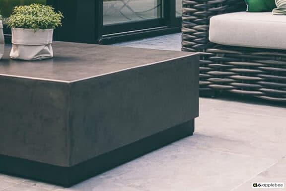 Crete stolik kawowy z betonu - Crete Bronze 75 x 75 x 32 cm
