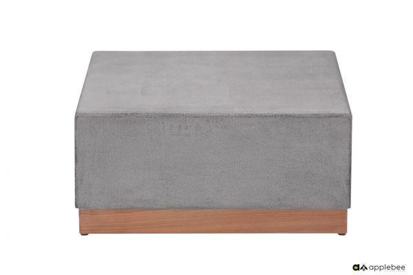 Crete stolik kawowy z betonu - Crete Grey 70 x 70 x 32 cm