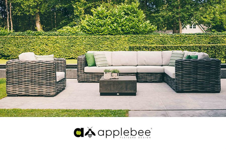 Elements XL modułowe meble ogrodowe - narożnik ogrodowy i fotel ogrodowy
