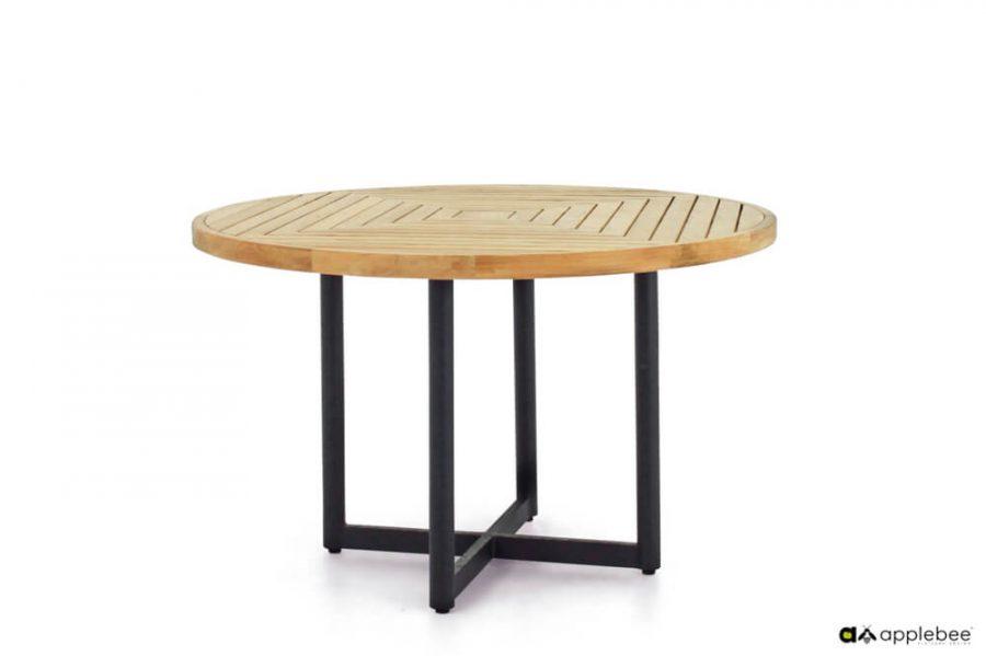 Jakarta zestaw stołowy do ogrodu dla 4 osób - stół ogrodowy Jakarta okrągły Ø120 x 76 cm