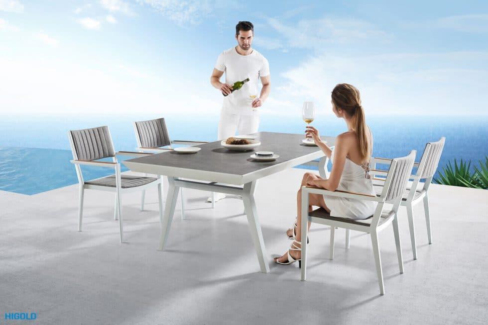 Champion meble ogrodowe aluminiowe | Zestaw obiadowy