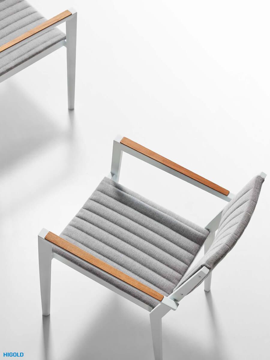 Champion meble ogrodowe aluminiowe | Krzesło ogrodowe Champion z podłokietnikami