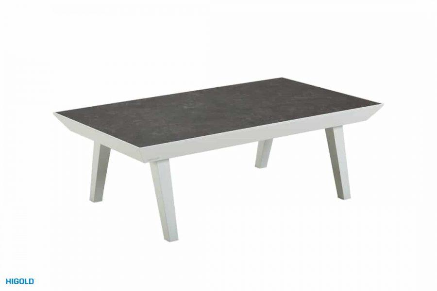 Champion nowoczesny zestaw mebli ogrodowych | Niski stolik ogrodowy - blat ze szkła ceramicznego