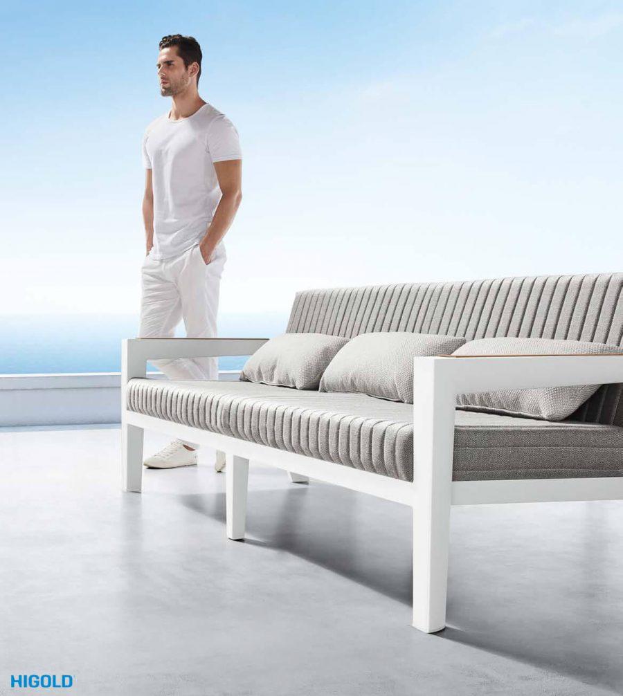 Champion nowoczesny zestaw mebli ogrodowych   Potrójna sofa ogrodowa