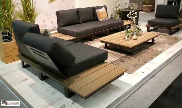 Margarita luksusowy zestaw wypoczynkowy ze stali nierdzewnej | Zestaw Margarita powiększony o 1 fotel ogrodowy