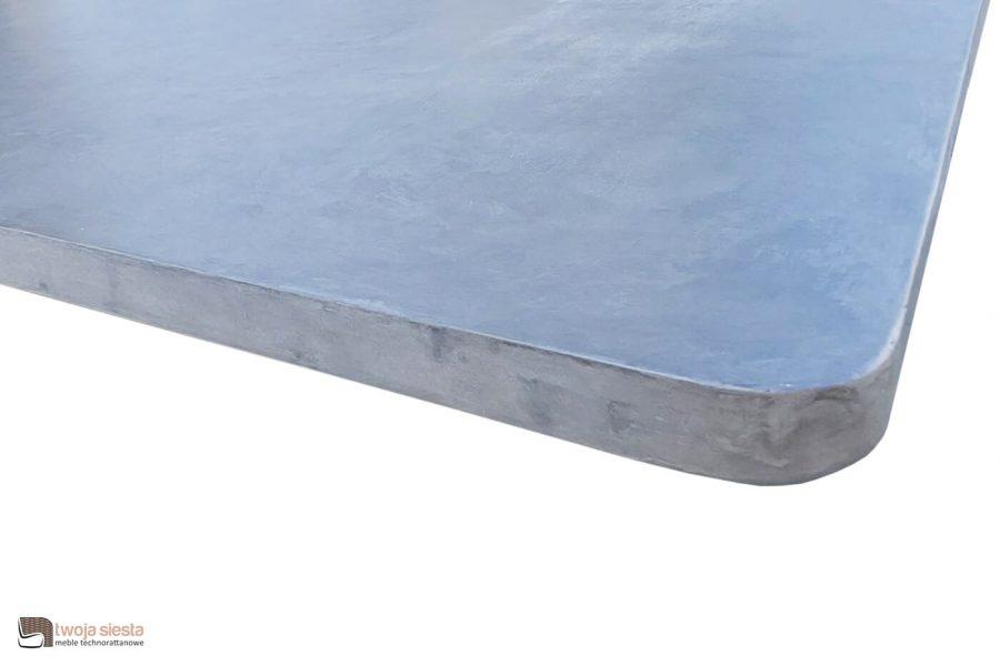 Milou luksusowy zestaw obiadowy technorattan alumimium - stół ogrodowy z blatem z lekkiego betonu marki Apple Bee