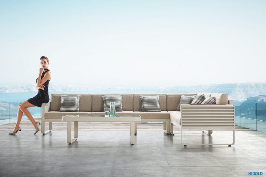 Airport meble ogrodowe unikalny narożnik zestaw wypoczynkowy Higold luksusowe meble ogrodowe aluminium