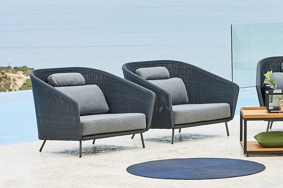 Mega fotel ogrodowy technorattan Cane-line kolekcja mebli ogrodowych Mega